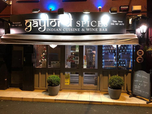 Gaylord Spices Entrance